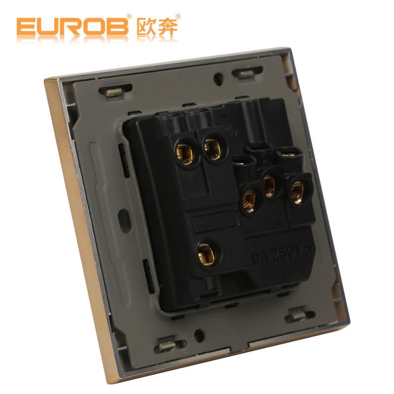 求欧奔两开五孔开关接线图,一个开关控制一个灯,总线只有一根火线一根